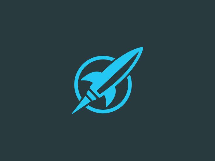 rocket town logo animation art