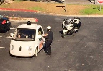 Google Car Gets Pulled Over for slow speed