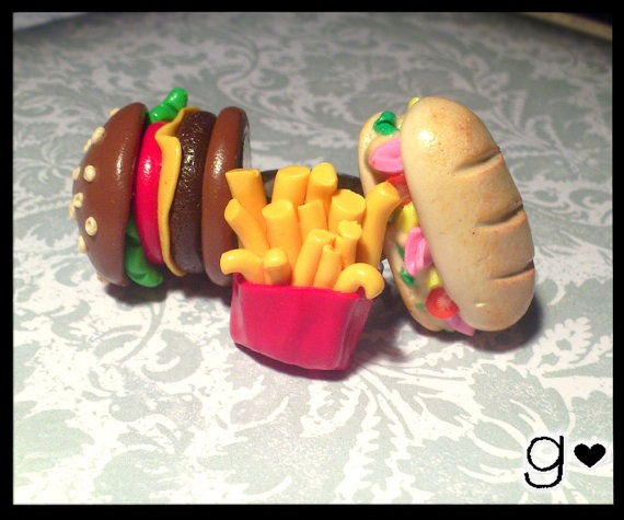 Sandwich Ring  Handmade  Polymer Clay  by GabriellesCreations, $22.00