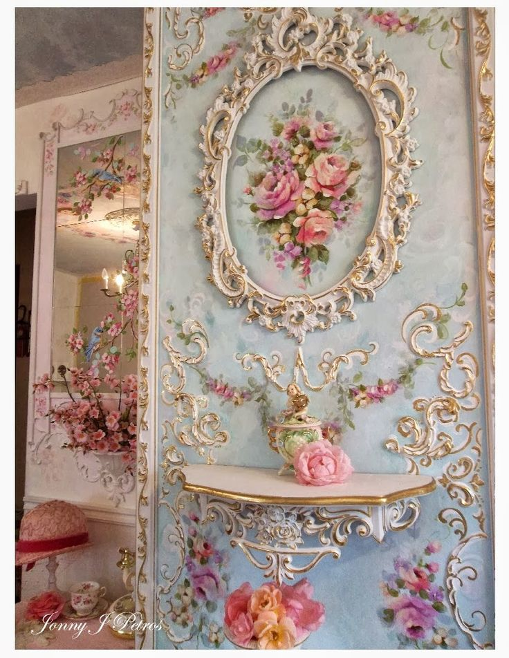 Shabby chic wall! I need this in my guest bedroom @Martha Licatino