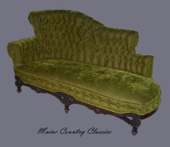 374 best images about antique new chaise lounges on for Button tufted chaise settee velvet