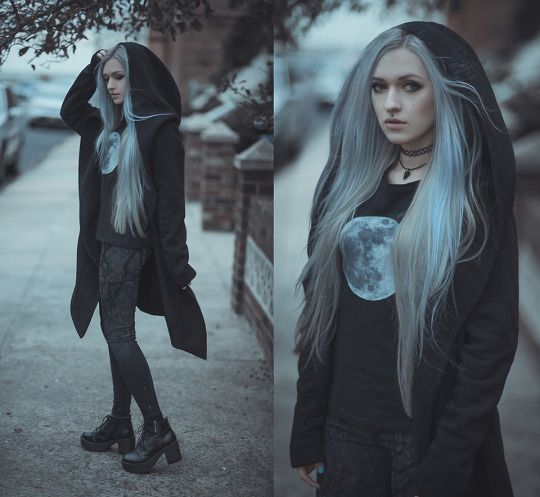 I wish I could dye my hair white, but I know that I wouldn't keep it up so it'd…