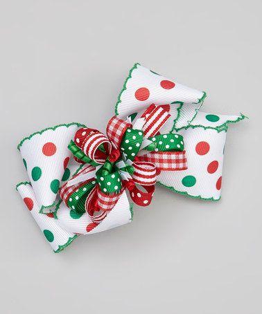 unique christmas hair bows