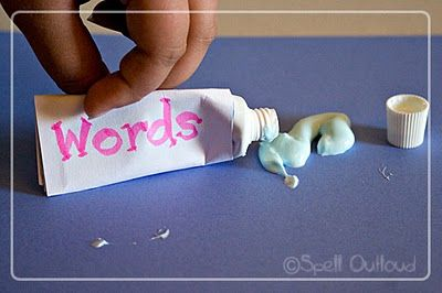 Words are Like Toothpaste -- can help if used correctly, can make big mess if not...and almost impossible to clean up/take back once out! Object lesson plus printable craft...