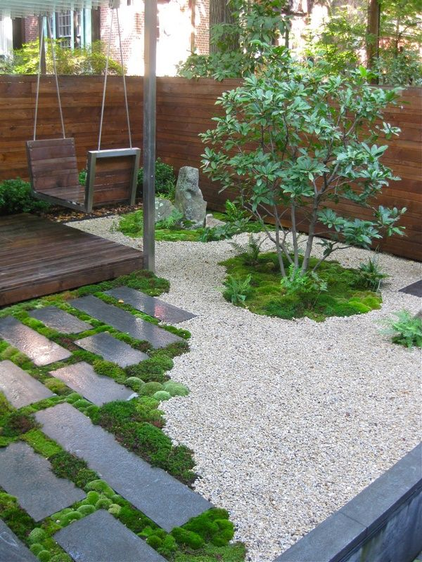 Small Garden Ideas Stepping Stones Gravel Moss Outdoors Moss Garden Small Japanese Garden