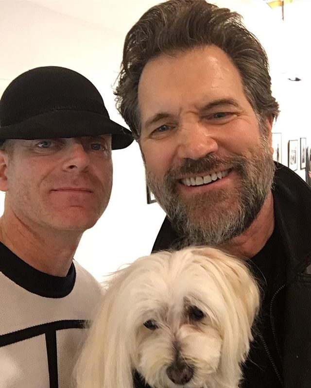 Me and @chris.isaak and his  dog. #wickedgames #beard #hat #chrisisaak @chrisisaak