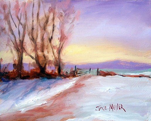 Jane Meyler- Field of Snow The Burrow Rosslare  #art #clouds #snow #landscape #seascape #DukeStreetGallery