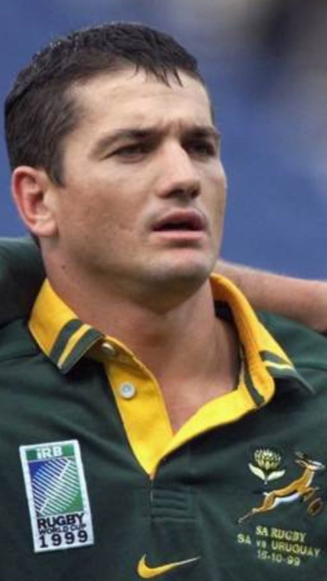 Joost van der Westhuizen (born 20 February 1971) is a South African former rugby union player who played as a scrum-half for the national team. He played in the 1995 and 1999 Rugby World Cups.  His honours include the Currie Cup twice (1998 & 2002), a Tri-Nations title (1998) and the World Cup (1995). In July 2004 he joined Supersport as a commentator. His contract with the channel was later terminated.[1]