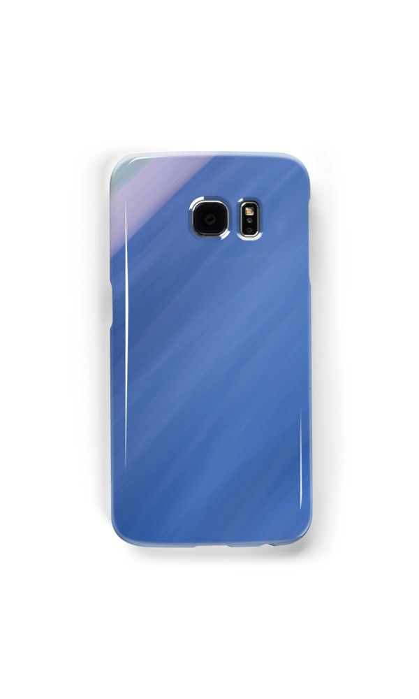 « Blue Gradient Diagonals Abstract » phone skin and case par Galerie 503
