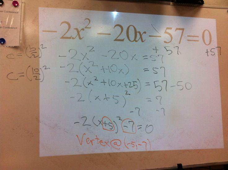55 Best Quadratic Functions Images On Pinterest Teaching Math