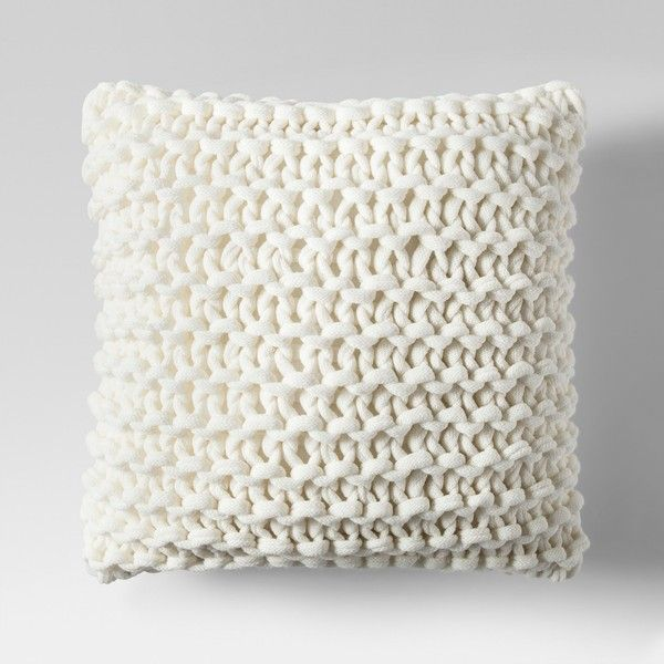 Large Knit Throw Pillow Project 62 Target 35 Via Polyvore Featuring Home Home Decor Throw Pillows Targe Throw Pillows Knitted Throws Pillow Projects