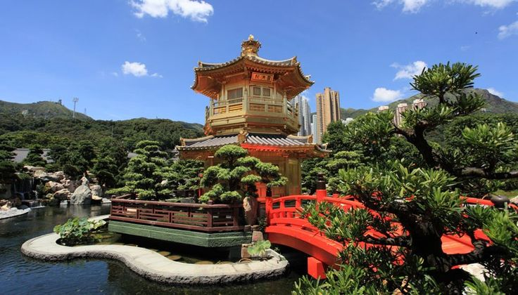 Hong Kong - Pavilhão Dourado é cercado de belos jardins