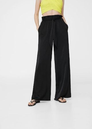 Pantalon palazzo fluide -  Femme | MANGO France