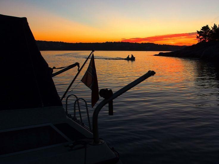 Solnedgang på #båtferie i #Hombersund