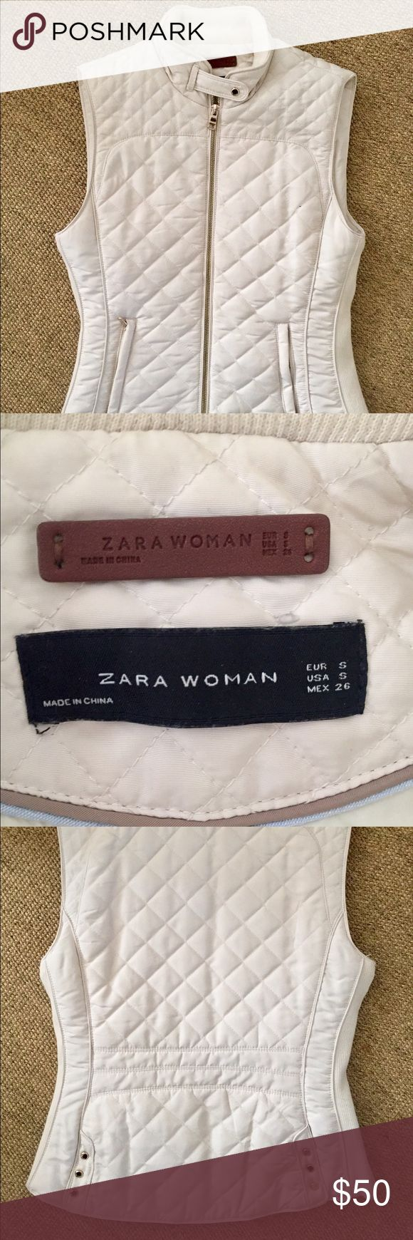 Zara Quilted Vest In very good condition, super cute with white jeans and a flannel! Zara Jackets & Coats Vests