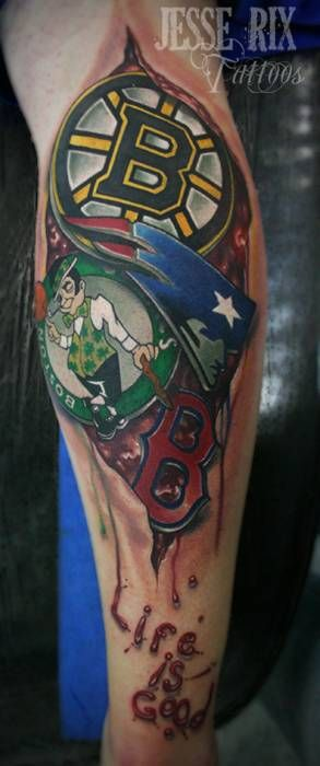 16 best images about boston sports tattoo on pinterest for Philly sports tattoo