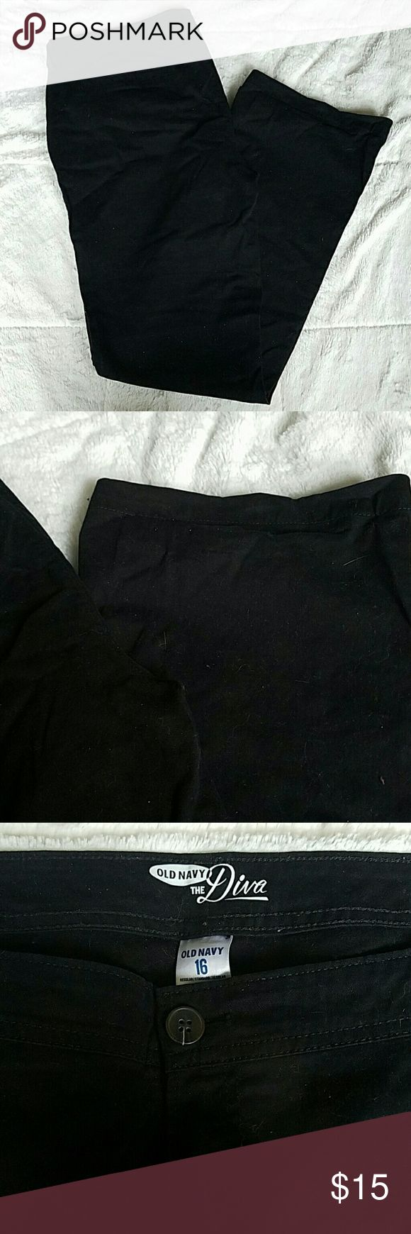 Old Navy Black Khaki Pants Old Navy Bootcut Black Khaki Pants. Only worn a couple times, in excellent condition. Size 16 Old Navy Pants Boot Cut & Flare