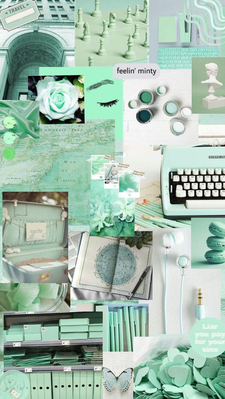 Mint Wallpaper Wallpaper Hijau Warna Aqua Hijau Mint