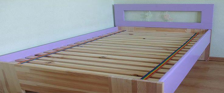 Drewniane łóżko dziecięce - Aprideco