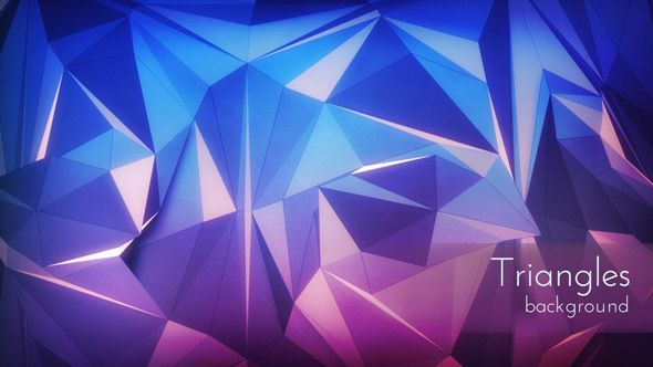 Polygonal Triangles Background Daily motion background