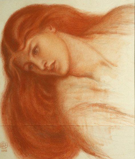 Dante Gabriel Rossetti (1828-1882)'Head of Andromeda': Pre Raphaelite, Pre Raphelit, Preraphaeliti 1