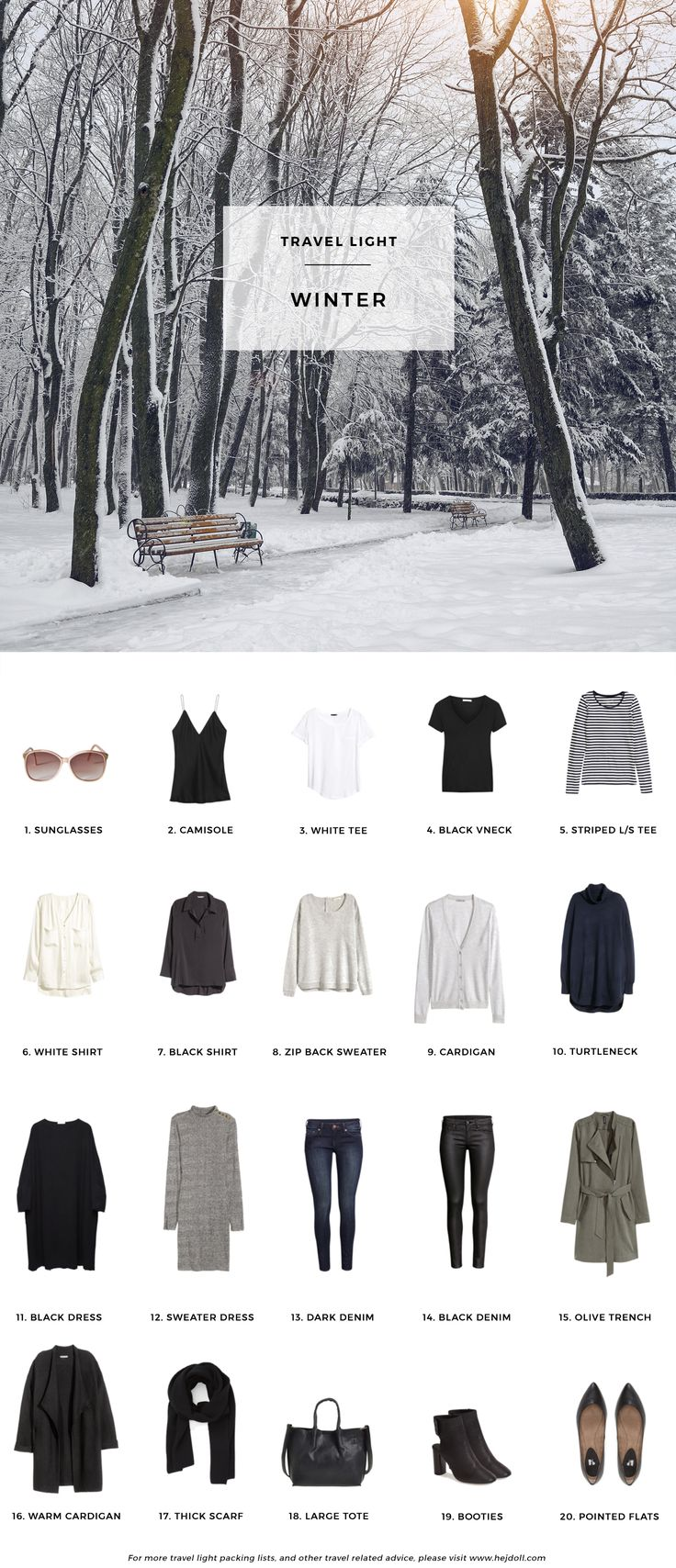 Winter Packing List On A Budget