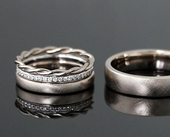 Wedding Rings Vintage Combination