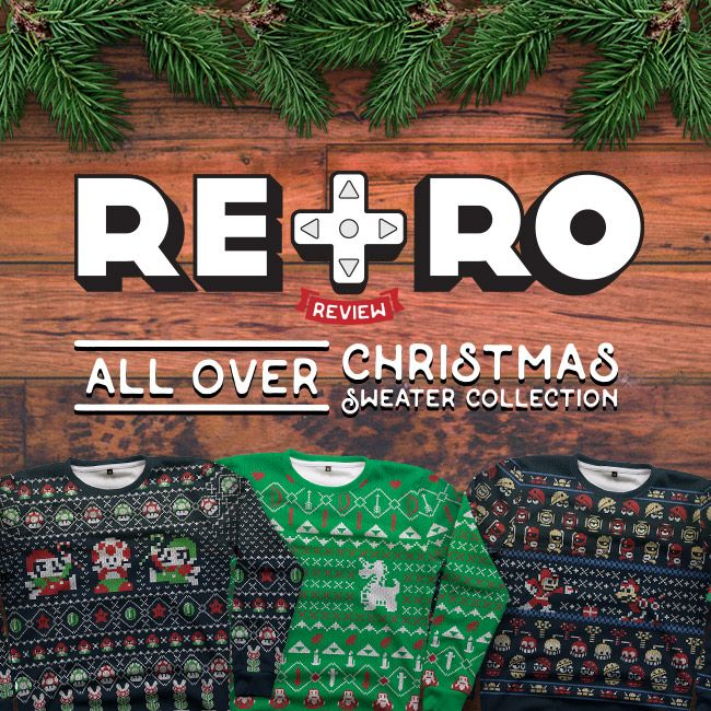 15 best All Over Christmas Sweaters Featuring Retro Gaming Designs ...
