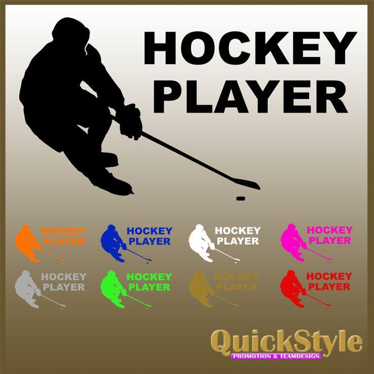 Eishockeyspieler Aufkleber. Jetzt bestellen!, 5,00 €