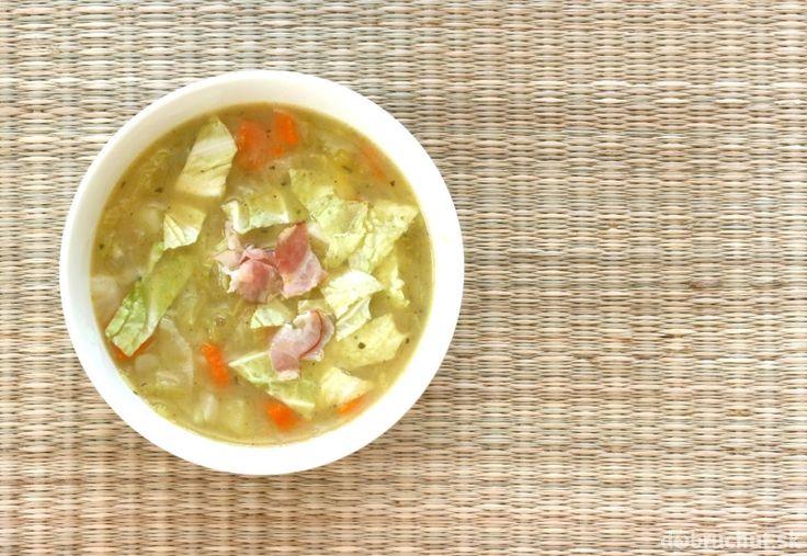 Kelová polievka so zemiakmi