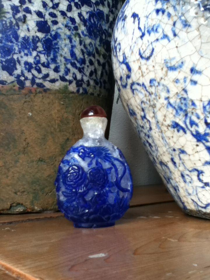 Oude parfumflesjes.