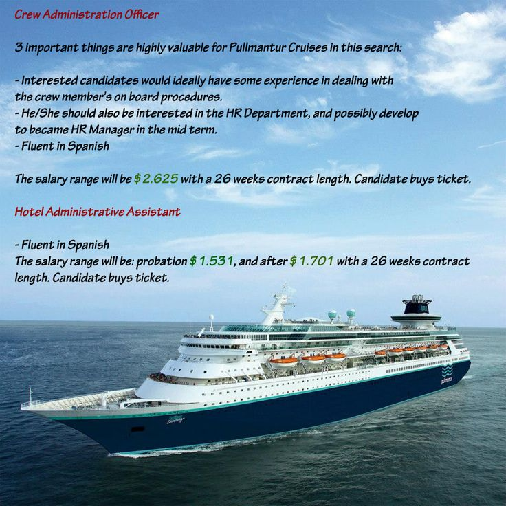 Best Cruise Ship Jobs Forum Images On Pinterest Cruise Ships - Cruise ship salary