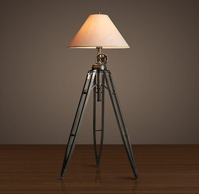 Royal Marine Tripod Floor Lamp Vintage Floor Lamp Tripod Lamp Tripod Floor Lamps