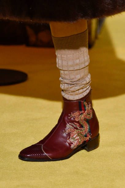 Gucci Cruise 2018 show at Palazzo Pitti on May 29 2017 in Florence Italy