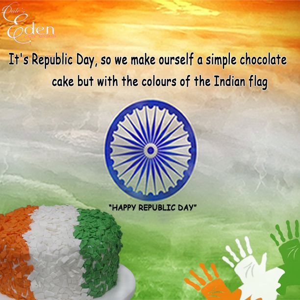Happy Republic Day with our Republic Day Special Cakes... Order it online http://daleseden.com/ca…/festival-specials/republic-day.html