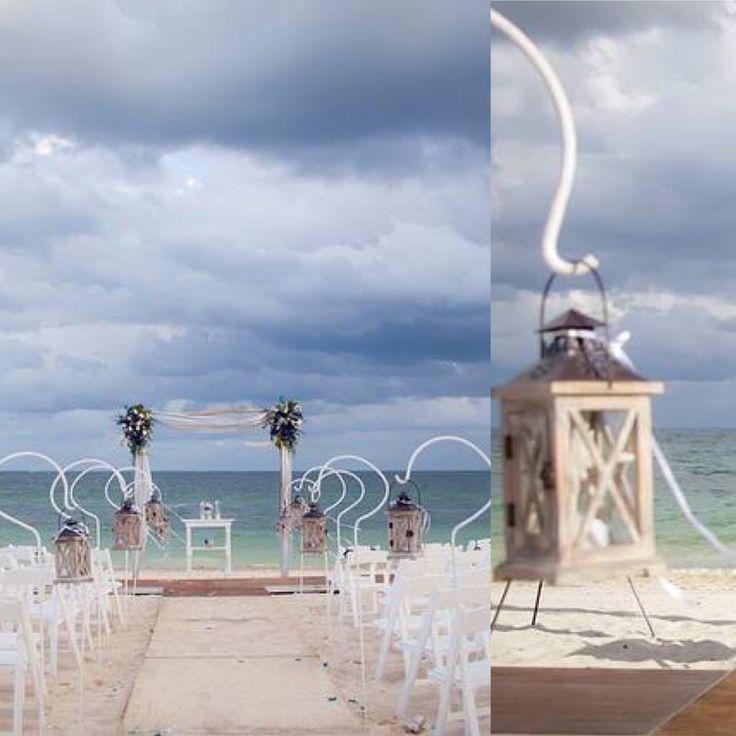 CBD232 lamps for aisle / lámparas para Camino a ceremonia