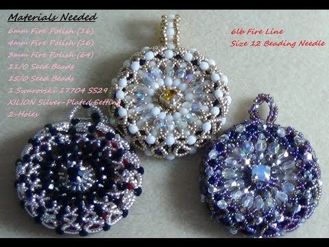 ▶ (Tutorial) Starburst Beaded Pendant (Video 5) - YouTube
