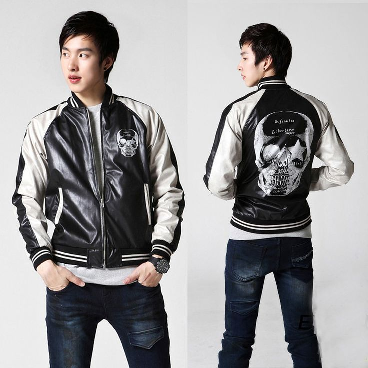 Skull Print Casual Jacket For Men FREE SHIPPING!!!