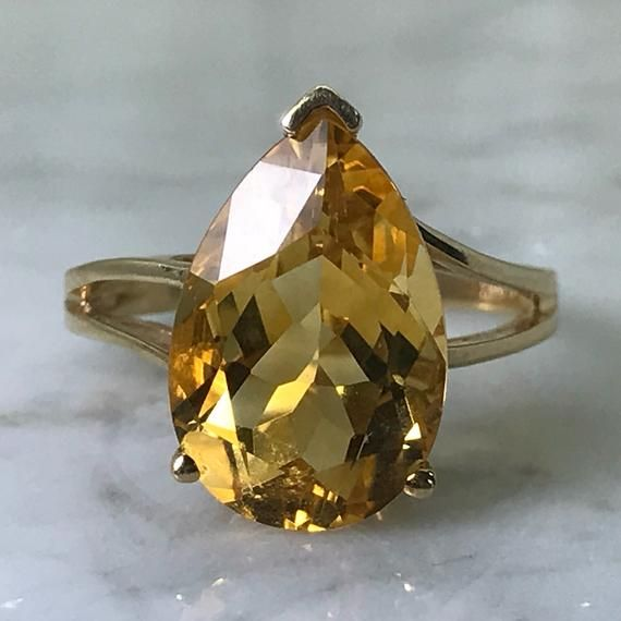 Vintage Citrine Ring 10k Yellow Gold Setting Jewelry Ring Etsymktgtool Vintagecitrinering 1 Unique Engagement Rings Citrine Ring Engagement Citrine Ring