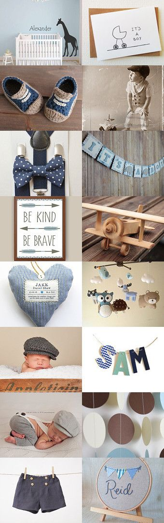 It's a boy! by Esther Lagarde on Etsy--Pinned with TreasuryPin.com