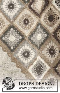 Afghan, lovely colors - free crochet pattern