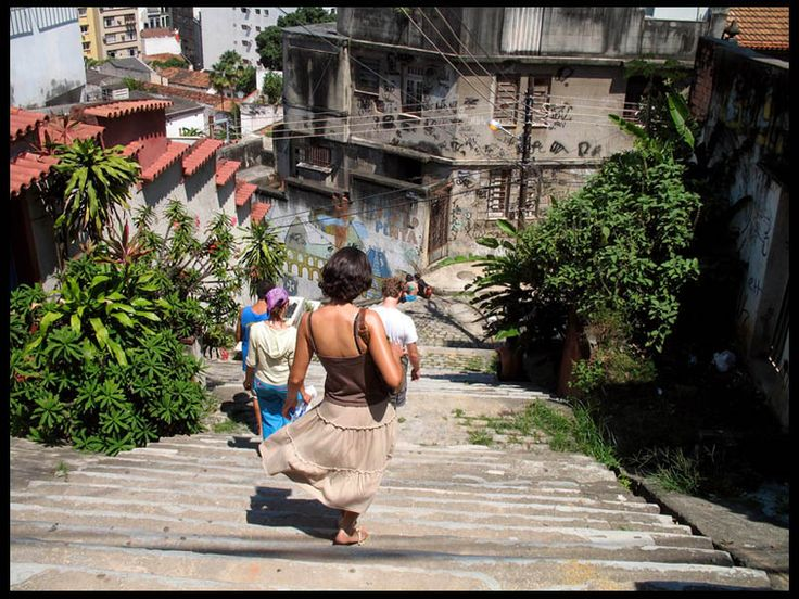 In Santa Teresa going town de Seleron Stairs, a place made famous in a Snoop Dog video in Rio de Janeiro_ Southeast Brazil