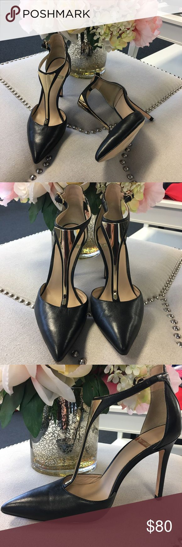 T-strap stiletto pumps Gently worn, great condition. No noticeable flaws Guess by Marciano Shoes Heels