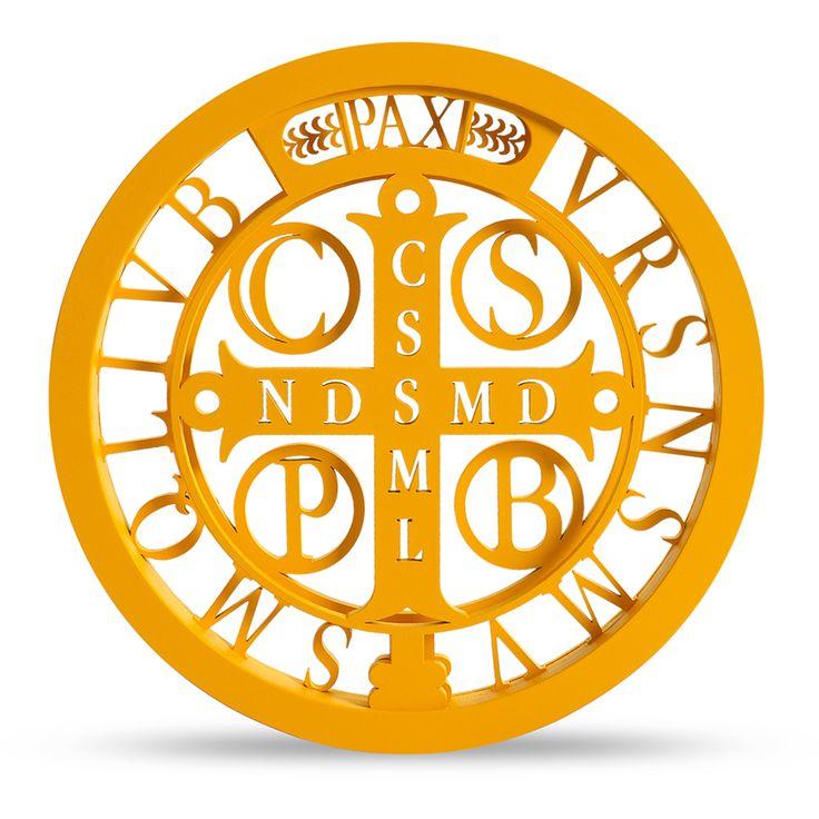 Medalha De São Bento Amarela   673