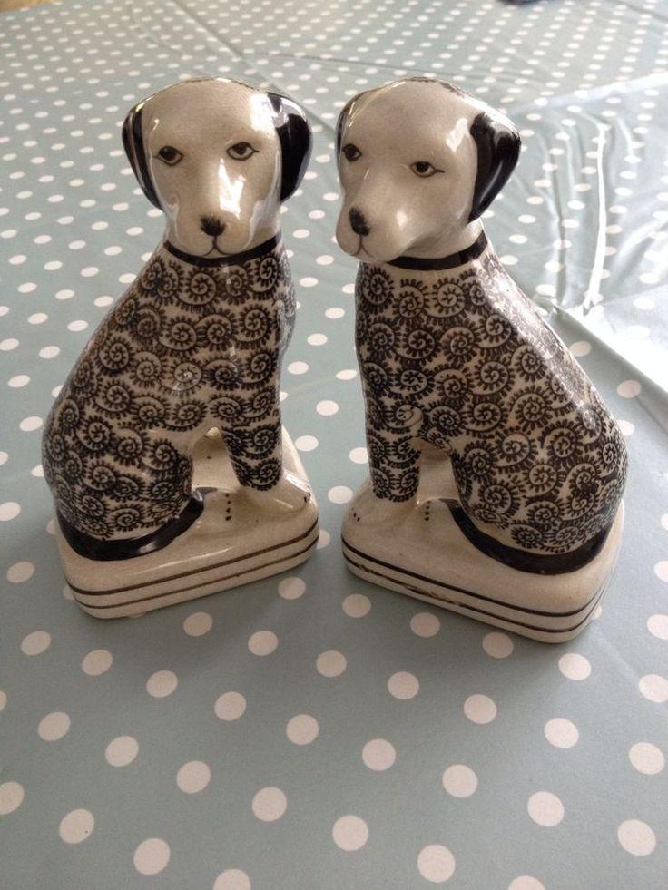 bücherstützen Asiatische Hunde Keramik - Sehr Schön