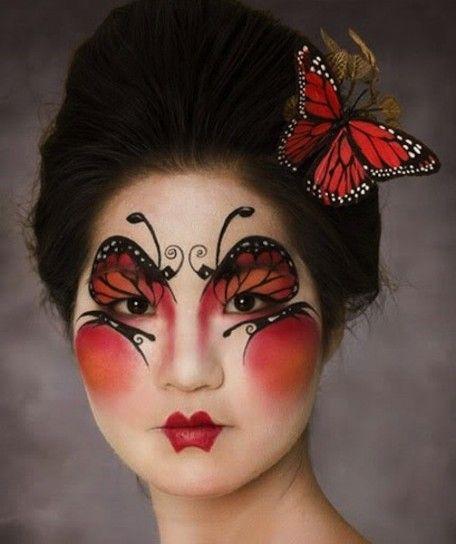 Trucco Lady Butterfly - Un po' geisha un po' farfalla, per questa proposta make up da riprodurre per Carnevale 2014.
