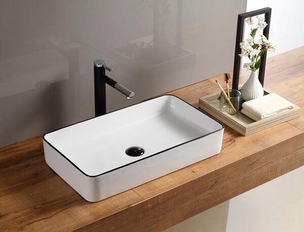 Above Ceramic Rectangular Vessel Bathroom Sink In 2020 Tiny Bathroom Sink Small Bathroom Sinks Wall Mounted Bathroom Sinks