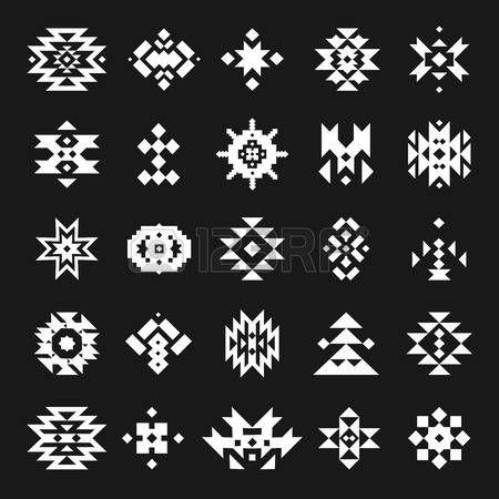 art amÉrindien: Vector abstract éléments géométriques