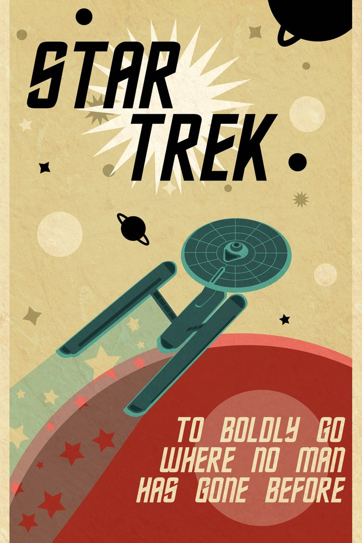 32 Awesome star trek retro posters images