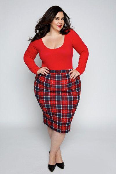 plus size plaid skirt   fashion skirts